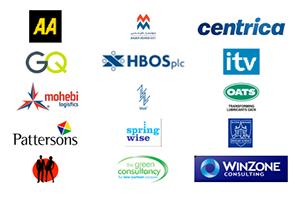 Selection of Brand New Way customer logos